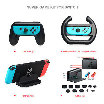 Durable 4 in 1 Super Game KitsCharge Stand Controller Grip For Nintendo Switch