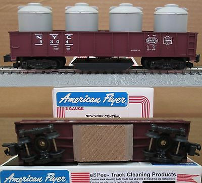 eSPee TRACK CLEANING GONDOLA CAR - American Flyer - New York Central - S Scale