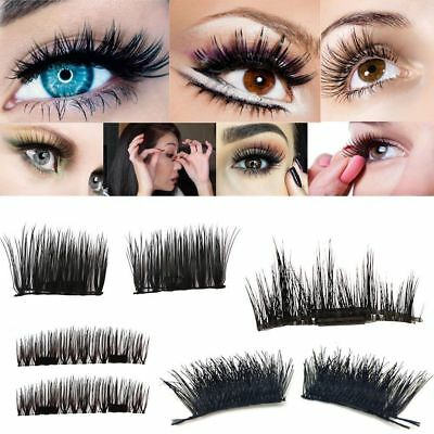 Magnetic 3D False Eyelashes 4pc Set Long Natural Fake Eye Lashes Extension TKS