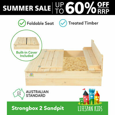 Lifespan Kids Sandpit/Sand Pit Outdoor Toy #Strongbox2
