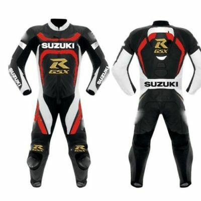SUZUKI  CUSTOM MADE MOTOGP MOTORCYCLE MOTORBIKE RACING LEATHER SUIT 1&2 pcs