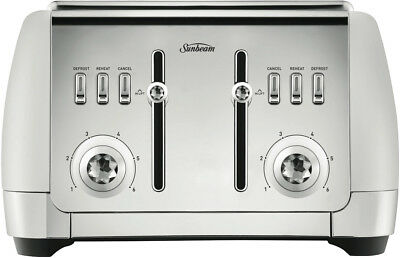 NEW Sunbeam TA2240W London Collection 4 Slice Toaster - White