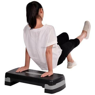 Aerobic Step Stepper Adjustable Height 2 Level Non Slip Fitness Exercise Board