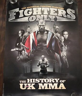 Fighters Only History Of UK MMA Poster, Michael Bisping, Dan Hardy, UFC