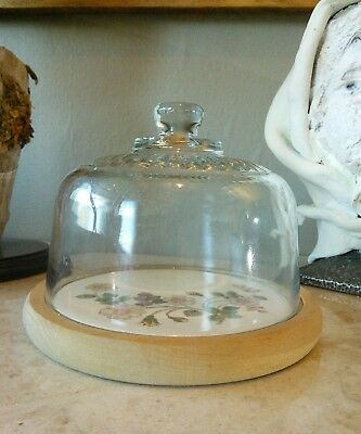 Vintage Domed Cheese / butter  Dish HARVEST pattern