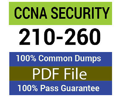 CCNA Security 210-260 Exam Pass Dump only  PDF