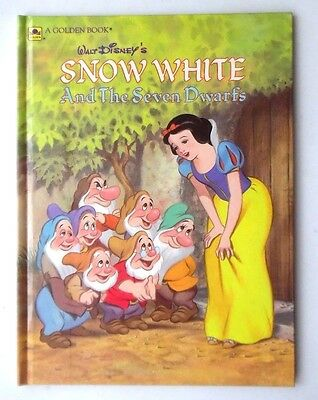 Walt Disney's Snow White And The Seven Dwarfs Hb Golden Book 1984 Disney