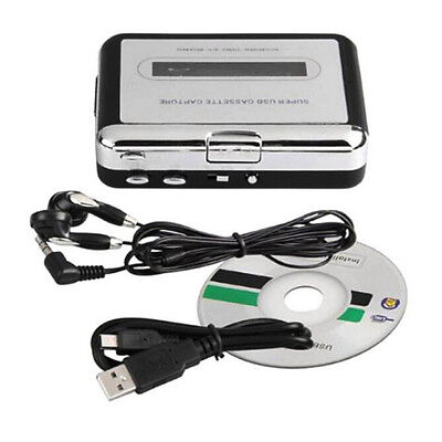 Tape to PC USB Cassette & MP3 CD Converter Capture Digital Audio Music Player GB
