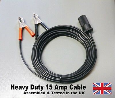 Caravan, Camping Hook Up Battery Extension Cable Cigarette Lighter Socket