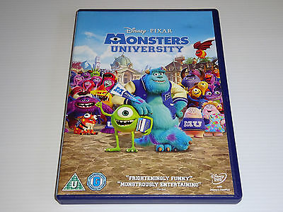 Monsters Inc University - Disney Pixar - GENUINE UK (Region 2) DVD -EXCEL CONDIT