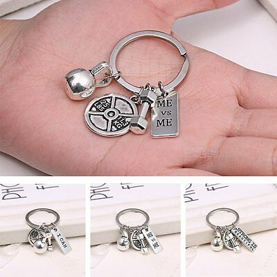 Weight Lifter Keychain Key Ring Gym Bodybuilding Select Dumbbell Couple Gifts