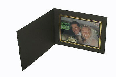 Kenro 10x8 Black View Format Photo Folders with Silver Trim Box of 50