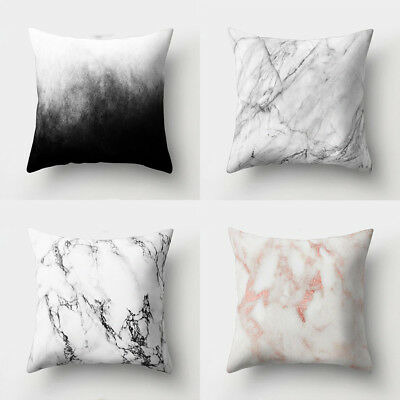 Marble Pattern Soft Comfortable Cushion Cover Bed Pillowcase Home Decor Strict