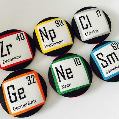 Periodic Table Elements Handmade Rainbow Fridge Magnets Geek Nerd TBBT Science