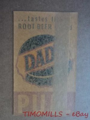 Vintage DAD'S ROOT BEER Shop Door Window Pull Decal Magi-Cal Del-D-Cal Mfg Co.