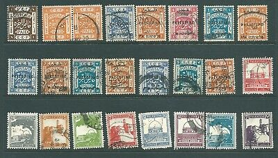 PALESTINE - Pre-1948 stamp collection including EEF overprints