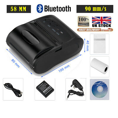 Wireless Bluetooth USB 58mm Thermal Dot Receipt Printer 90mm/s ESC POS Android