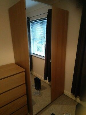 Ikea pax double wardrobe picclick uk for Double mirror effect