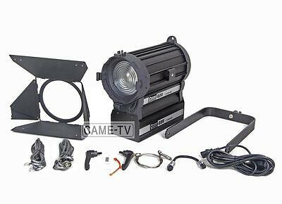 Pro 200W LED Fresnel Light Zoom DMX Focusable Dimmable for Studio Video Lighting