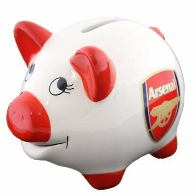Official Arsenal FC  Piggy Bank Money Perfect Gift For Xmas White/Red