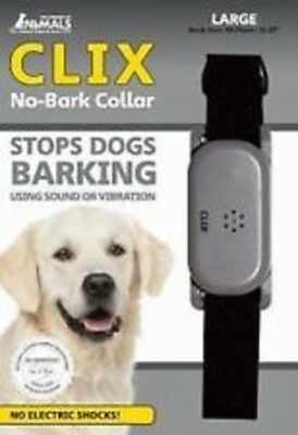 Clix No Bark Collar - Stop Unwanted Barking - Large- Fast & Free Delivery