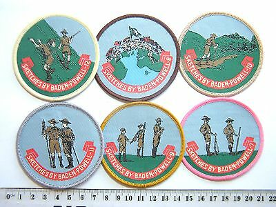 BP SCOUT BADGES Sketches of Baden-Powell (7-12), includes World Scouting & hikes