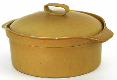 Bennington Potters 1621 Covered Yellow Ochre Casserole Dish with Inset Lid