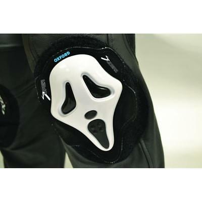 Genouillères moto Kneesliders Screaming Blanc Oxford