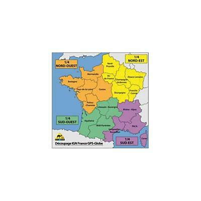 Carte Ign Gps Globe 1/4 France Nord-Ouest 1/25000E
