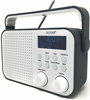 tesco dr1404g digital dab radio fm reciever blue lcd display portable picclick uk. Black Bedroom Furniture Sets. Home Design Ideas