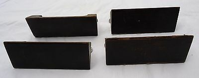 Vintage Mid Century Modern Wood Drawer Handle Pull Set Of 4 Architectural