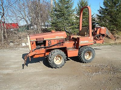 Ditch Witch 350SX Duetz Diesel Vibratory Ride on Plow with Roto Bore Attachment