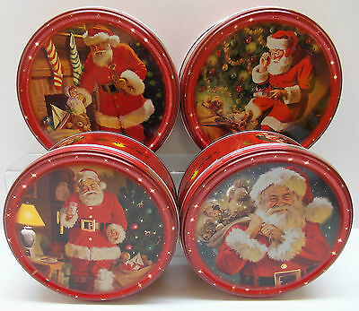 2 x DANISH BUTTER COOKIES CLASSIC SANTA TIN- Christmas-Stocking Filler Biscuits