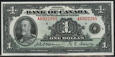 #bc-1 $1 1935 Series Bank Of Canada -- Au -- Cv $400 Bu156