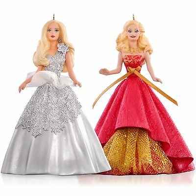 New In Box 2015 Hallmark Celebration Holiday Barbie™ Ornament Set