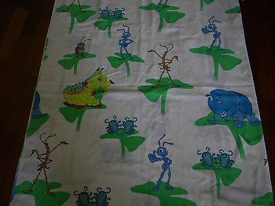 VTG DISNEY PIXAR A BUG'S LIFE TWIN FLAT SHEET ~ excellent condition