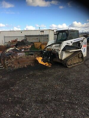 Trencher Bobcat Hire Service Water Pipe Duct Installed
