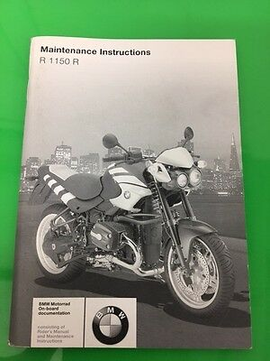 Genuine Bmw R 1150 R Maintenance Instructions