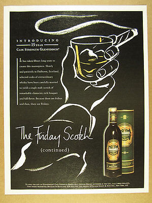 1996 Glenfiddich Cask Strength Single Malt Scotch 15 Year vintage print Ad