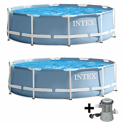 Intex 12ft x 30in Frame Swimming Pool supplied with OR without a Filter Pump