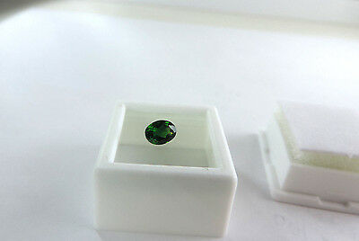 Superior Quality Oval Cut Russian Chrome Diopside 1.00ct faceted by me :)