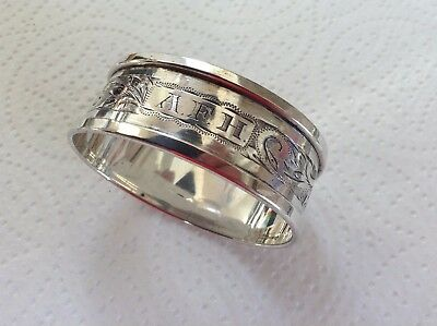Vintage Sterling/S Oval Napkin Ring by Birm Maker Henry Griffith & Sons Ltd 1949
