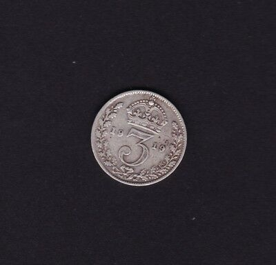 1919 Great Britain UK Threepence Silver Coin
