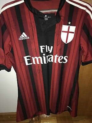 A.C Milan 2014-2015 Autographed Jersey (Multiple Players)