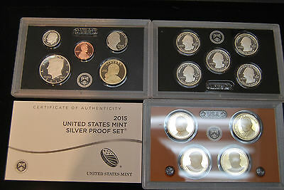 2015 US MINT SILVER PROOF SET  *** Low Mintage***