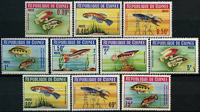 Guinea 1964 SG#414-423 Fishes 30c-75f MH Postage Set #D58295