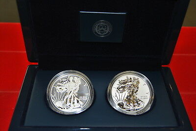 2013-W West Point AMERICAN SILVER EAGLE 2 COIN SET w/Reverse Proof
