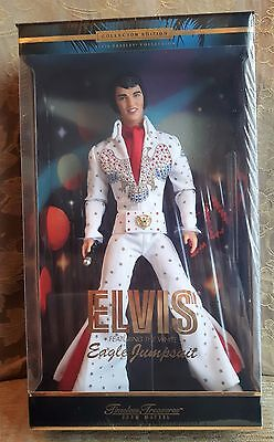 NEW  Elvis Presley White Eagle Jumpsuit Collectibles Doll, Mattel 2000