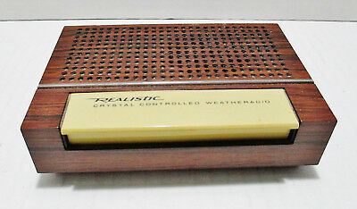 Realistic Three Crystal Controlled Weather Radio Model 12-152A Battery Operated