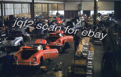 3 1957 Kodachrome Slides PORSCHE Factory Stuttgart Germany